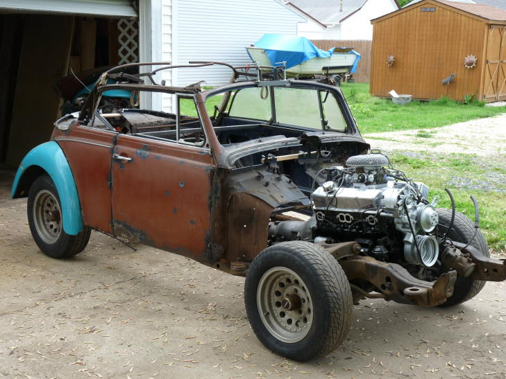Our Widened 1969 Bug Body Sitting On The S 10 Chassis