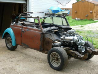 Our 350 chevy V8 Powered 1969 VW Beetle Hot Rod Project